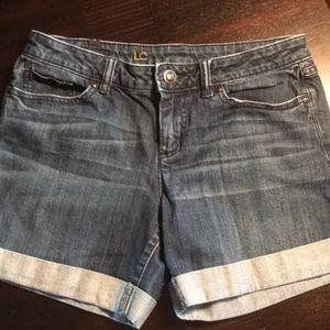 Lauren Conrad midi cuffed jeans shorts – 8